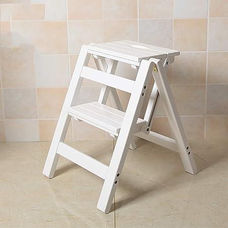 SRFDD Taburete de Dos escalones Madera, Escaleras de Cama para niños Abuelos Escalera de Mascotas Reposapiés Antideslizante Construcción Escaleras de Cama para el hogar Oficina Cocina Armario Baño,A: Amazon.es: Hogar