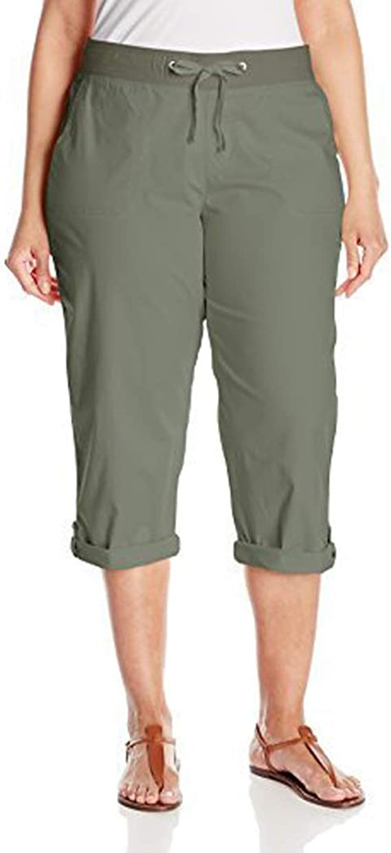 Lee Womens Relaxed Fit Lila Knit Waist Cargo Capri Pant