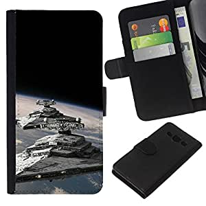 NEECELL GIFT forCITY // Billetera de cuero Caso Cubierta de protección Carcasa / Leather Wallet Case for Samsung Galaxy A3 // Destructores Estelares