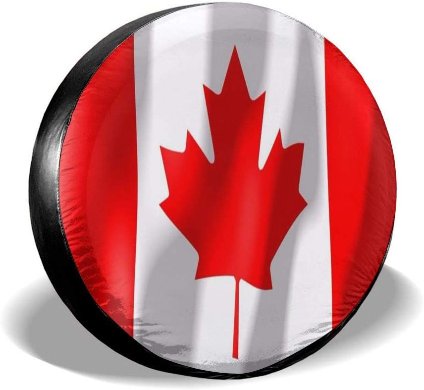 Spare Wheel Tire Cover Waterproof for Trailer Canadian/_Flag Tire Cover Wheel Covers for Jeep Trailer RV SUV Truck Camper Travel Trailer Accessories 14,15,16,17 Inch