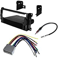CAR CD STEREO RECEIVER DASH INSTALL MOUNTING KIT + WIRE HARNESS + RADIO ANTENNA ADAPTER FOR CHRYSLER + DODGE + JEEP 2004-2008