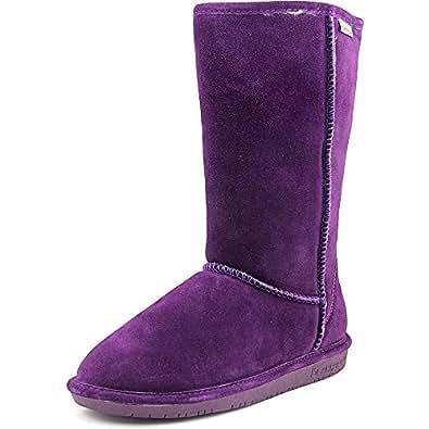 Bearpaw Women's Emma Tall Deep Purple Knee-High Sheepskin Boot - 6M