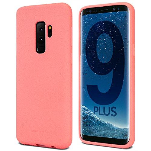 Galaxy S9+ Plus Case for Samsung Galaxy S9 Plus, [Thin Slim] GOOSPERY [Flexible] Soft Feeling [Matte] Silky TPU Rubber Liquid Gel Silicone Case [Lightweight] Bumper Cover (Flamingo) S9P-SFJEL-PNK