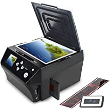 DIGITNOW! Film&Slide Pictures Multi-function Combo Scanner, Convert 35mm, 110 Film Negatives/Slides &Photos/document to HD 22MP Digital JPG Files,Includes Free 8GB Memory Card!