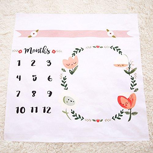 Newborn Baby Milestone Keepsake Blanket Baby's First Year Mo
