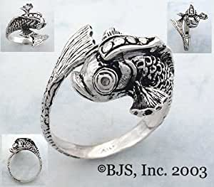 Koi Fish Ring - Sterling Silver Animal Jewelry