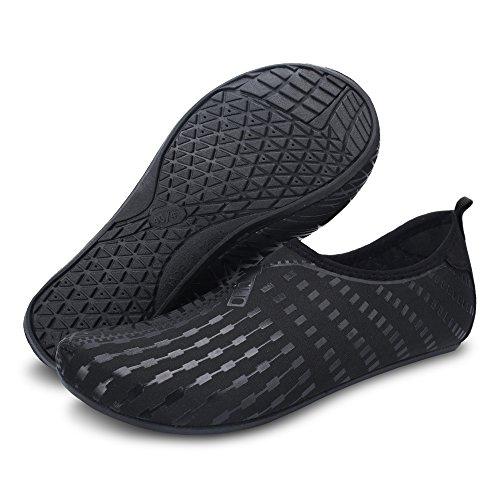 Yoga Shoes Nage Séchage Chaussettes Nus Water Femmes Aapide Hommes à JOINFREE Chaussures Summer Pieds Zip Aqua Noir tq6FXBR