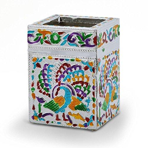 Little India Rajasthani Meenakari Design Attractive Pen Stand 368