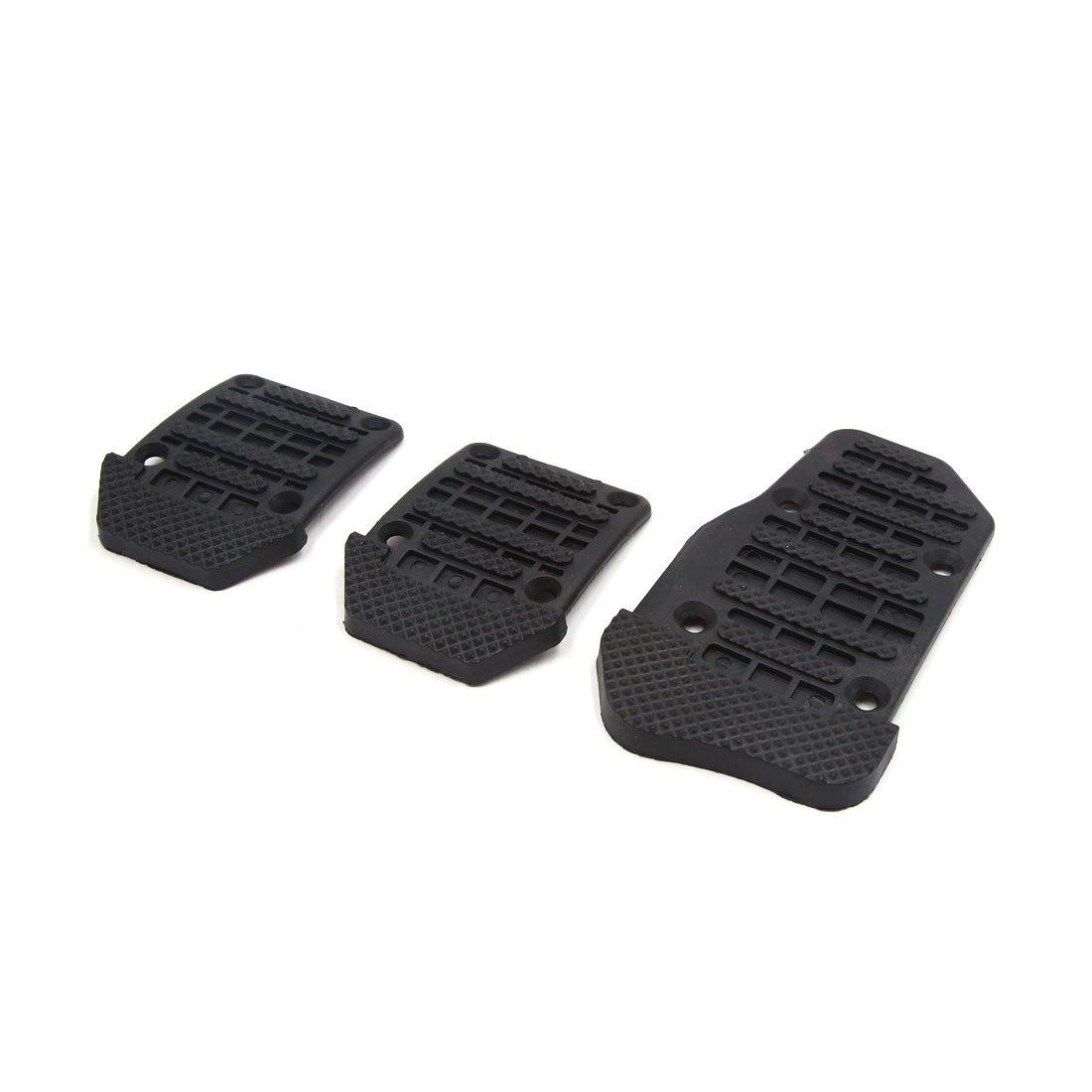sourcing map 3uds Conjunto Plástico Negro Antideslizante Tapa Pedal Acelerador Embrague Freno para Vehículo Manual: Amazon.es: Coche y moto