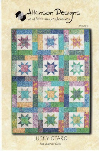 Atkinson Designs Pattern ATK-129 ~ Lucky Stars Fat Quarter Quilt