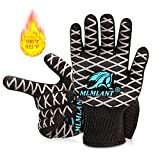 MLMLANT BBQ Cooking Grill Gloves, 932℉ Extreme Heat Resistant Gloves, EN407 Certified, Non-Slip