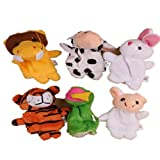 Finger Puppet,12PCs Chinese Zodiac Animal Soft Plush Toy Finger Puppet ➪Laimeng