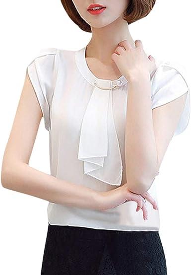 FELZ Camiseta de Manga Corta para Mujer Elegante Blusas de ...