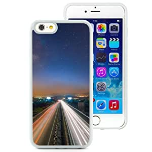 NEW Unique Custom Designed iPhone 6 4.7 Inch TPU Phone Case With Long Exposure Light Trails Cars_White Phone Case