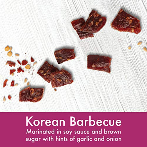Lorissa's Kitchen Grass-Fed Premium Steak Strips, Korean Barbecue, 100% Grass-Fed Beef Snacks, No Added MSG, Keto Friendly Snacks, Gluten Free, 2.25 Ounce, 4 Count (Packaging May Vary)