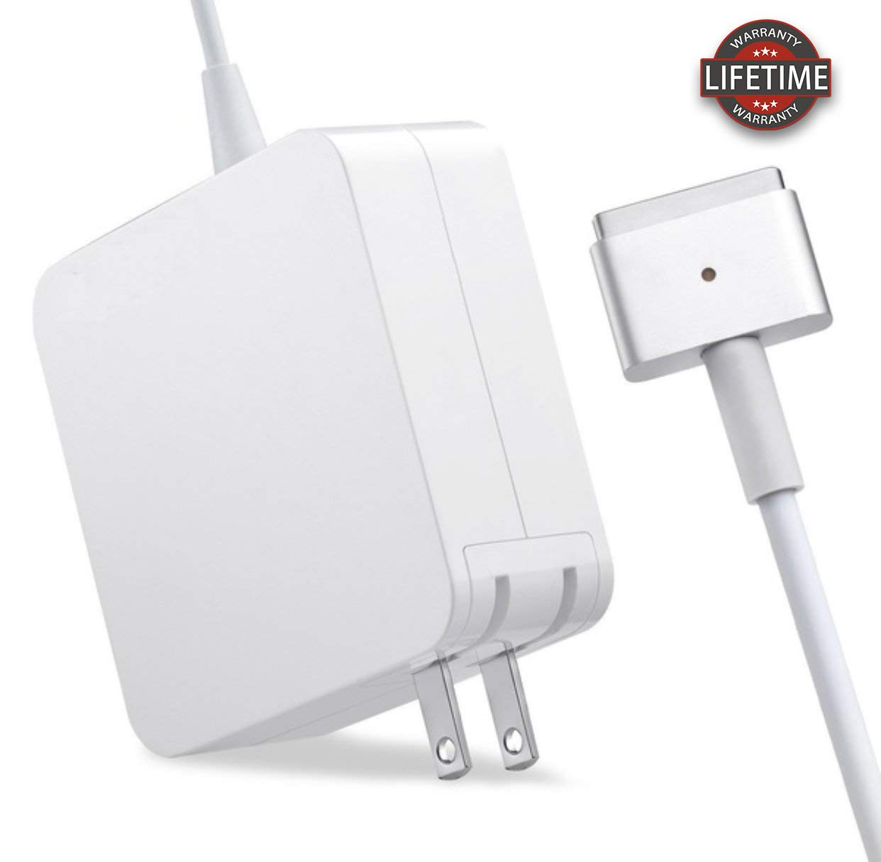 Mac Book Air Charger, Great Replacement 45W Magsafe 2 Magnetic T-Tip Power Adapter Charger for Mac Book Air 11-inch and 13-inch (Mid 2012 or Later)(45T) ... (45T) by CLUU (Image #1)