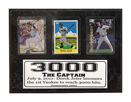- Encore Select 540-14 MLB New York Yankees Derek Jeter 3000 Hits 3-Card Plaque, 9-Inch by 12-Inch