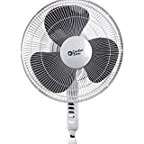 Comfort Zone CZST161BTE 16 3-Speed White Oscillating Pedestal Fan