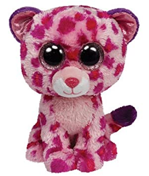 Ty - Beanie Boos Glamour Medium, peluche leopardo, 23 cm (United Labels Comicwa