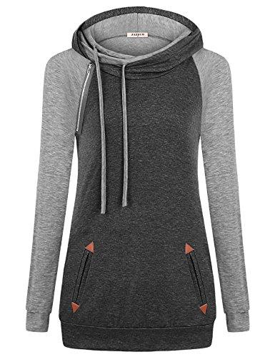 Zipper Long Sleeve Sweatshirts - 3