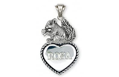 Amazon squirrel pendant jewelry sterling silver handmade squirrel pendant jewelry sterling silver handmade squirrel pendant sq2 tp aloadofball Image collections
