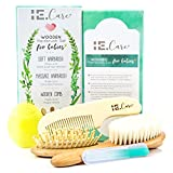 Best Baby Hair Brushes - IE.Care Wooden Baby Hair Brush Comb Set Review