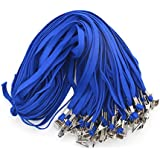 Beebel™ 50PCS 32-Inch Flat Lanyards with Badge Clip (Blue)