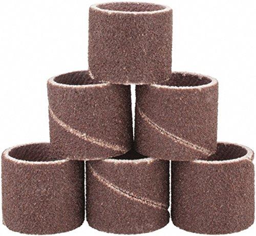 Pack of 75 Aluminum Oxide Spiral Abrasive Sanding Bands 1/2