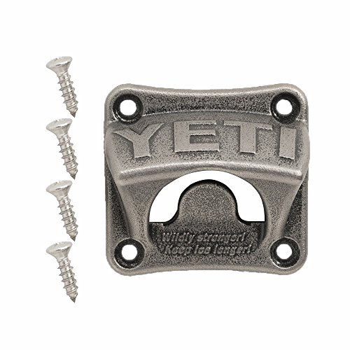 YETI Stainless Steel Wall Mount Bottle Opener, Silver, One Size