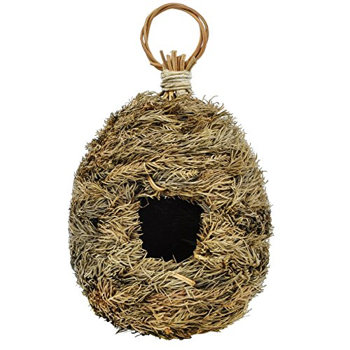 Gardirect Wild Birdhouse, Pine Leaf Natural Bird Roosting Pocket, 5'' x 5'' x (Bird Nesting Pockets)