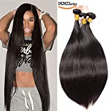 SEXAY 100% Brazilian Straight Hair Bundles 18 20 22 inch Grade 8A Unprocessed Virgin Remy Human Hair 3 Bundles Real Human Hair Extensions for Women Natural Color