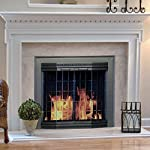 Pleasant Hearth GR-7200 Grandoir Fireplace Glass Door, Antique Brass by GHP Group -- Drop Ship Only