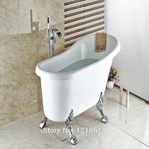 YASE-king 蛇口新フロア立ち浴室のシャワー浴槽の蛇口/ABSハンドスプレークロームポリッシュバスタブミキサー蛇口タップ、マルチワット