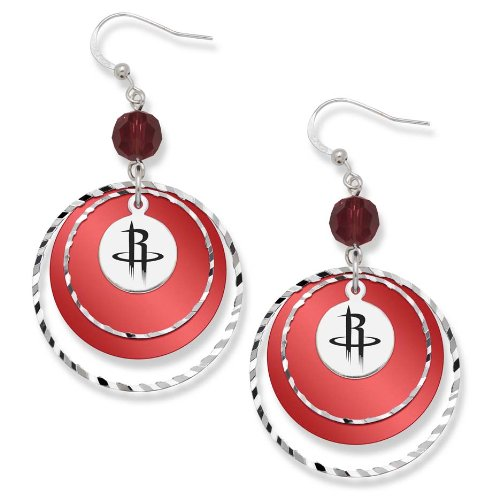NBA Houston Rockets LogoArt Game Day Earrings (Houston Rockets Earring)