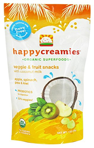HappyBaby Organic Creamies - Apple, Spinach, Pea & Kiwi 1 oz (28 grams) Pkg ()