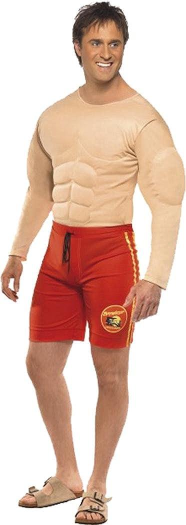 Disfraz de hombre musculado de Los vigilantes de la playa: Amazon ...