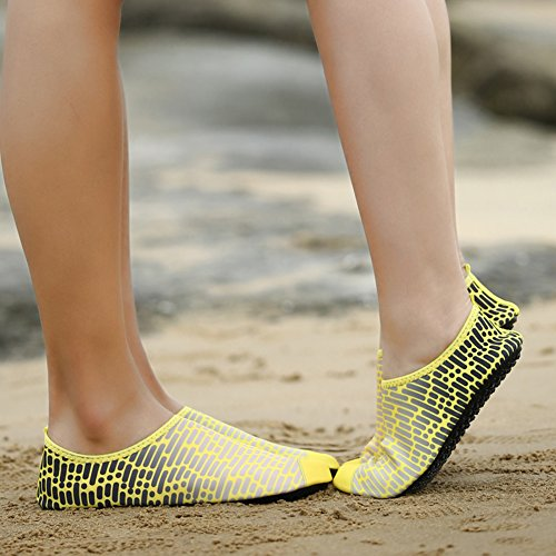 Holey Water Pull On Kids KPU 5yellow Outdoor Shoes Women Outsole Quick Sports Ventilation dry Men Sneaker and XSxw7qU