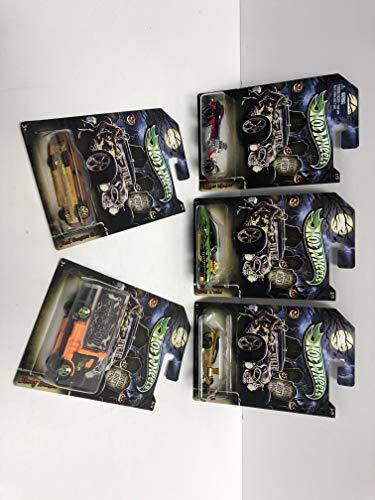 Happy Hallowwen! 2013 Mattel HOT WHEELS 1/64 scale diecast set (1-5) Rigor Motor, Evil Twin, Fangula, Ford Ganster Grin, Hiway Hauler