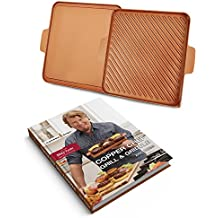 "Tristar Products CCGGB Chef Grill & Griddle Hard Cover Cook Book, 12"", Copper"