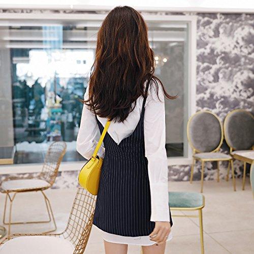 De Vestido Picture Traje Vestido Larga Primavera Delgado Blanca Y Dos ZHUDJ Delgada Camisa color CqftwZgZ