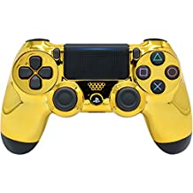 """""""Gold"""" Ps4 PRO Rapid Fire Custom Modded Controller 40 Mods for All Major Shooter Games, Auto Aim, Quick Scope, Auto Run, Sniper Breath, Jump Shot, Active Reload & More with CUSTOM LIGHTBAR"""
