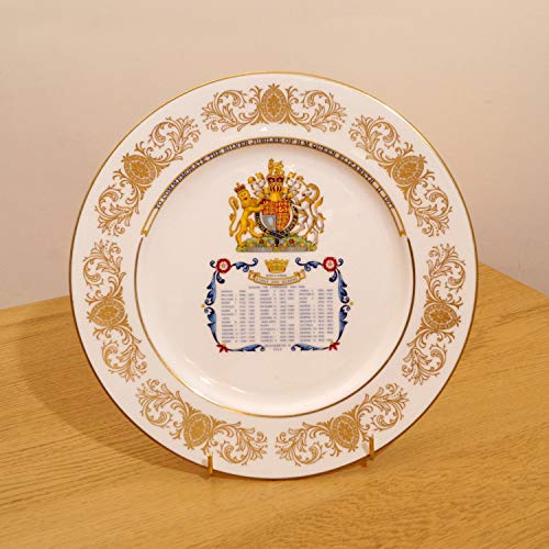 Restored by UkaVintage Englands Kings and Queens || Fine Bone China || to Commemorate The Silver Jubilee of H.M. Queen Elizabeth II 1977 || Aynsley Made in (Vintage Aynsley Bone China)