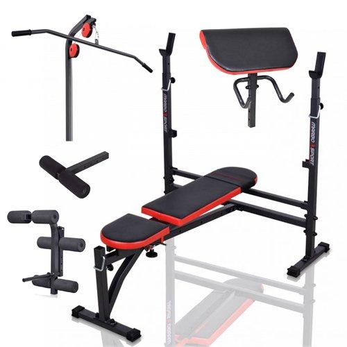 Banc + équipement MH-Z145 Marbo-Sport poste multi gym home musculation station set