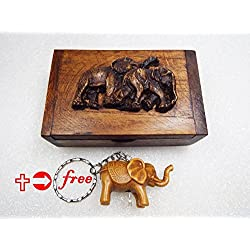 Marketworldcup - DIY Box Wood Vintage Wooden Antique Trinket Jewelry Storage Handmade Keepsake Art