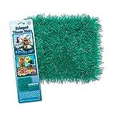Club Pack of 24 Novelty Teal Tissue Grass Mats 30