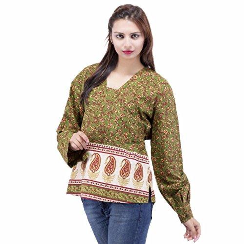 Jaipur Kala Kendra - Camisas - para mujer Verde