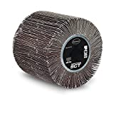 Eastwood Contour SCT Abrasive Flap Sanding Aluminum Oxide Drum 120 Grit with Plastic Hub for Paint Rust Remove Metal Conditioning