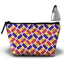 Andorra Flag Weave Pencil Case Stationery Bag Cosmetic Bag Cosmetic Bag Storage Bag