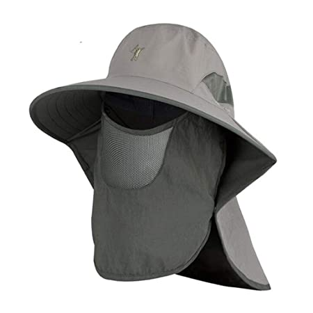 GJ Gorra de protección Solar para Hombre Visor de protección UV ...