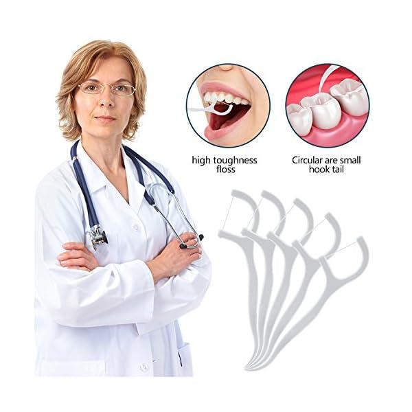 Hilo Dental – Meersee 180 piezas Seda Dental Palo Hilo Dental Pre-cortadas Seda de Dientes, Pack de 6 4